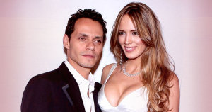 Marc Anthony junto a su esposa Shannon de Lima