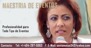 SONIA MATOS MAESTRIA DE EVENTOS